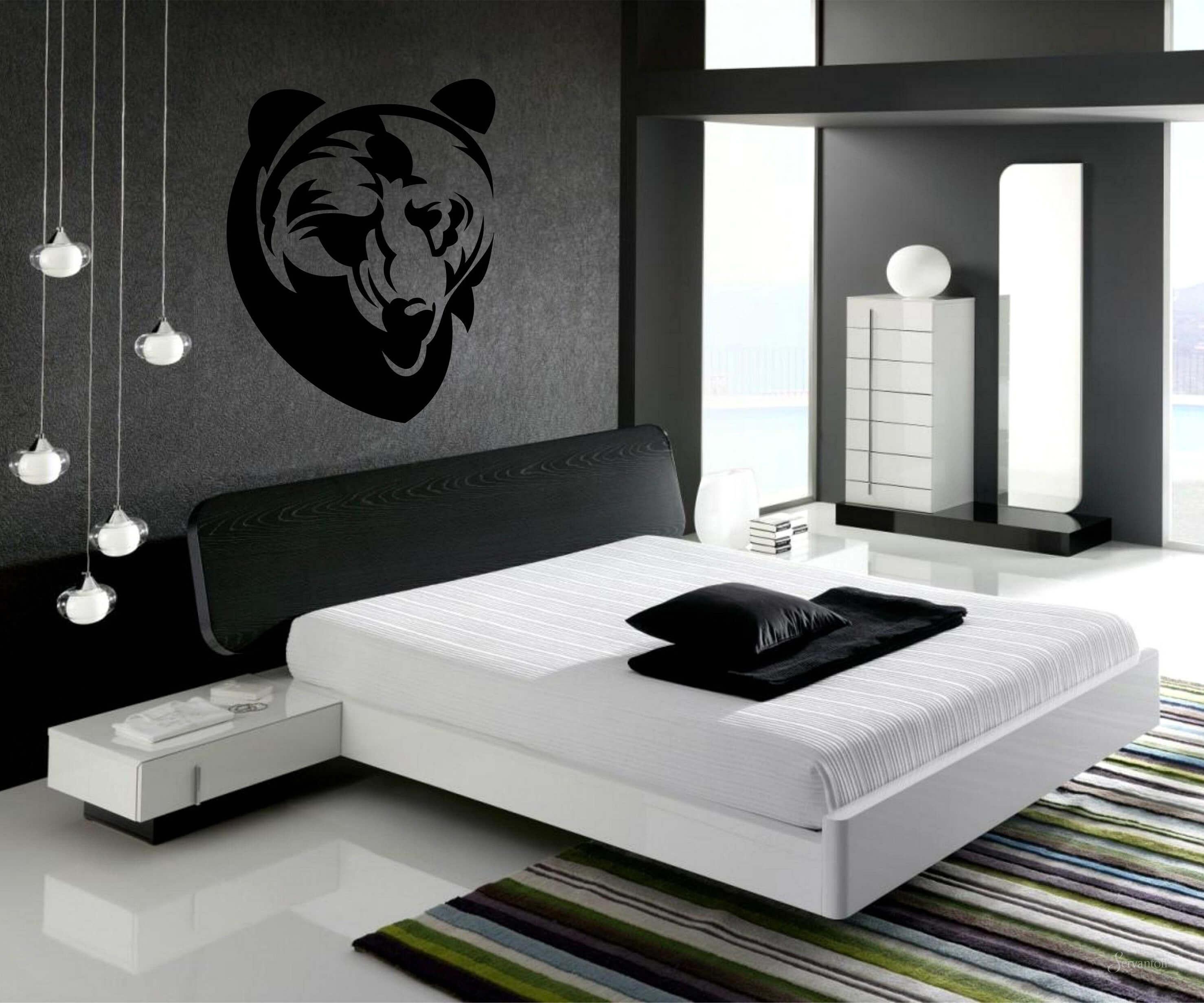 прикроватная тумбочка в интерьере спальни минимализм
