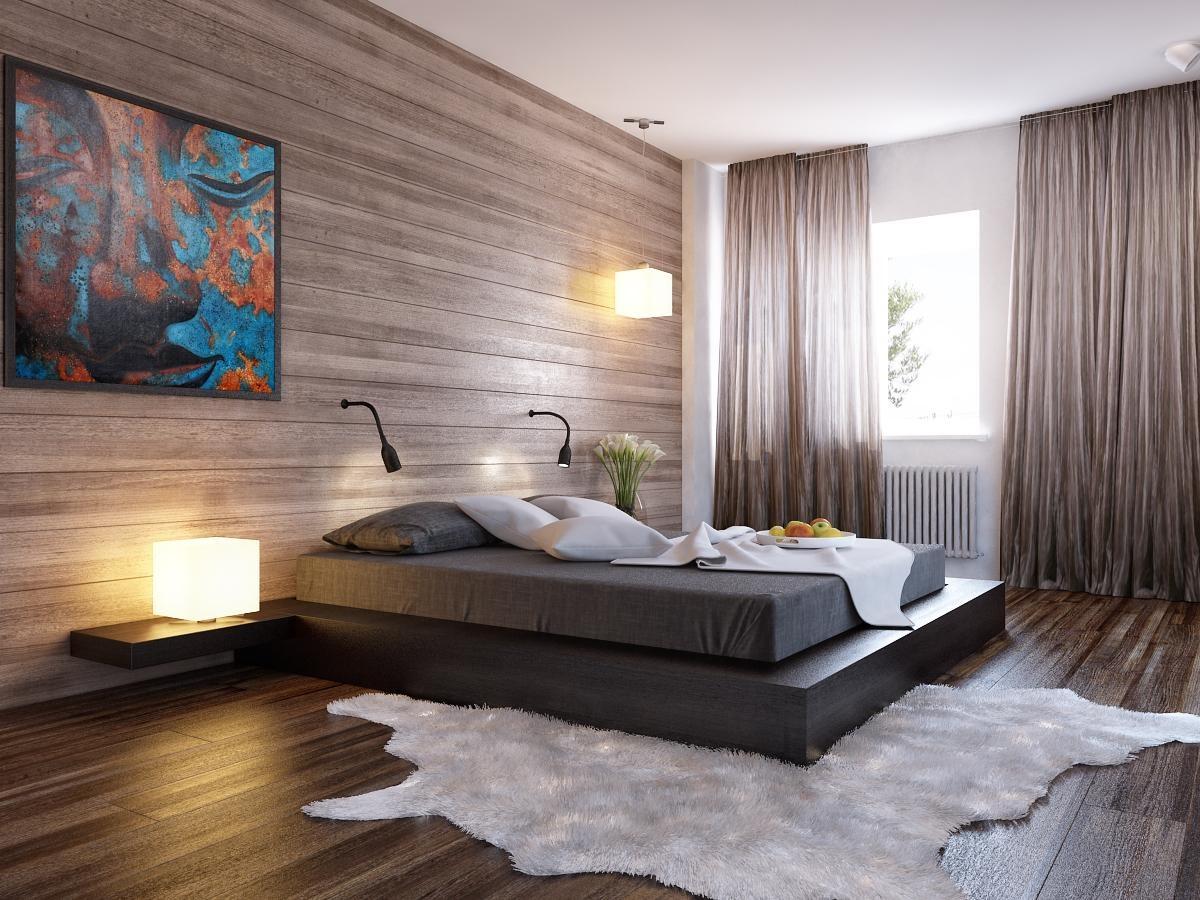 прикроватное освещение в интерьере спальни минимализм