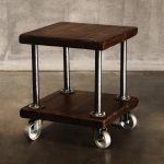 прикроватный столик кофейник на колесах