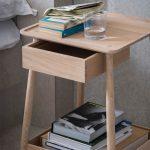 прикроватный столик деревянный светлый