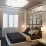 маленькая спальня бежевых оттенков