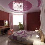 современная спальня бордо