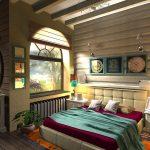 спальня деревенского стиля