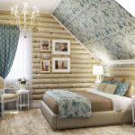 спаьня для загородного дома дачи под крышей