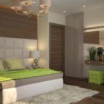 спальня экостиль с салатовыми оттенками