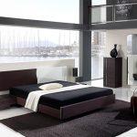 спальня в стиле минимализм с декором