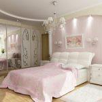 спальня нежных розовых оттенков