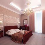 спальня с гарнитуром красное дерево