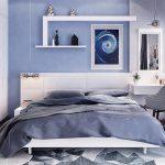 спальня со встроенным белым шкафом