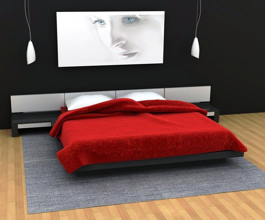 Дизайн спальни черная