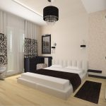 черно-белая спальня в стиле модерн