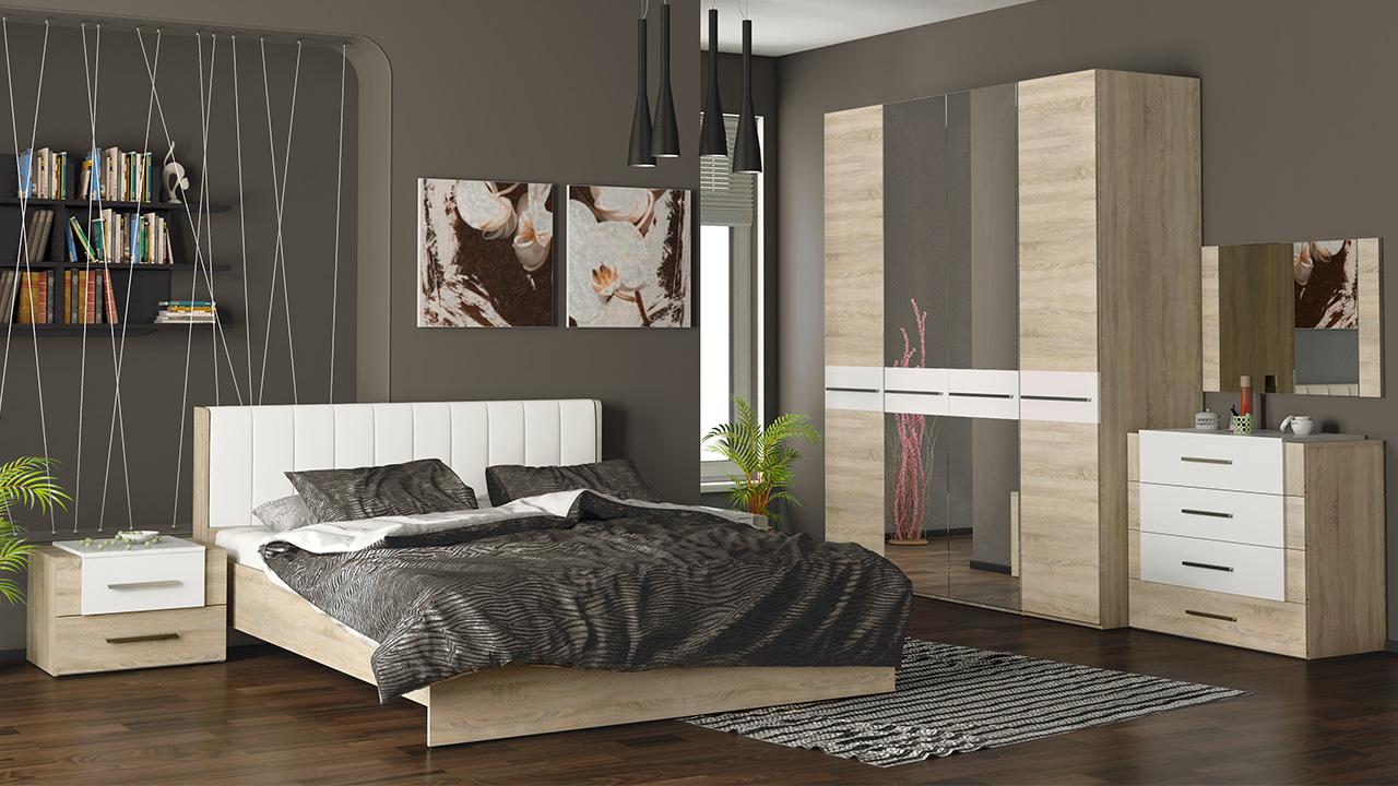 спальный гарнитур слоновая кость в интерьере спальни