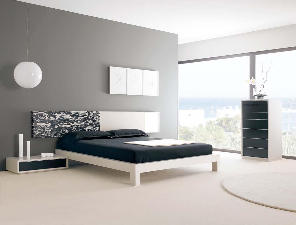 строгие формы спальни в стиле минимализм