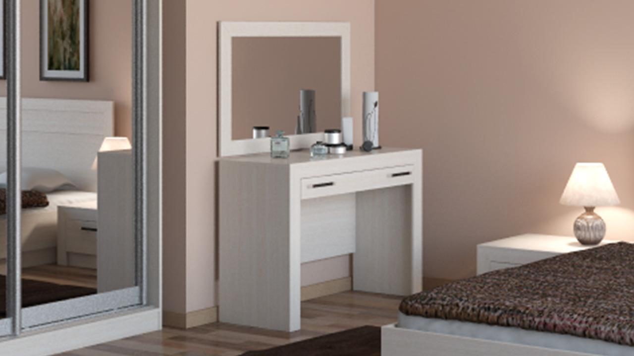 светлый туалетный столик минимализм