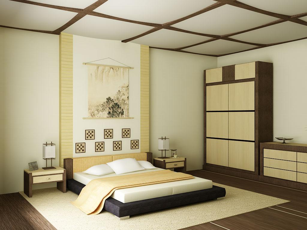 оформление комнаты в стиле минимализм в бежево-коричневых тонах