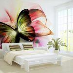 фотообои - бабочка на стене