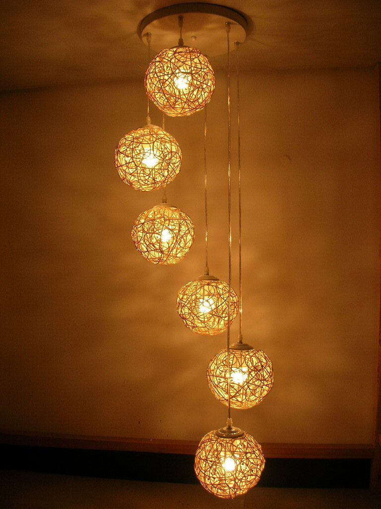 Free-shipping-handmade-six-beads-spiral-rattan-lighting-hand-weaving-chandelier-living-room-lights-decorative-lights