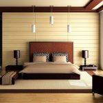 дизайн спальни со светлым деревом