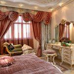 дизайн спальни в стиле античный