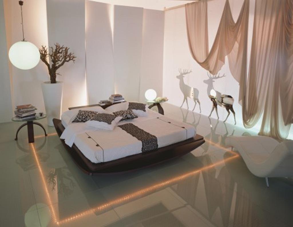декоративное освещение спальни