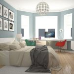 дизайн интерьера спальни и кабинета
