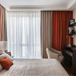 дизайн интерьера спальни в коричневых оттенках