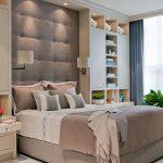 дизайн интерьера спальни с декором