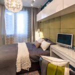 дизайн интерьера спальни с синими оттенками