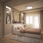 дизайн интерьера спальни в светло-коричневых тонах