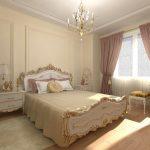 дизайн спальни в стиле классическом