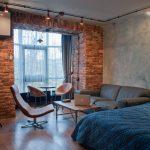 дизайн спальни в стиле классический лофт