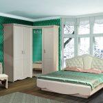 дизайн интерьера спальни в стиле классик в зеленых оттенках