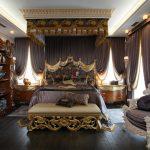 дизайн спальни в стиле черный классик