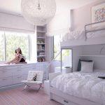 дизайн интерьера спальни с двухярусной кроватью