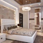 дизайн интерьера спальни в бежевых оттенках