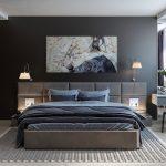 интерьер спальни холодных оттенков