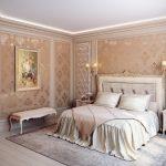 интерьер спальни в классик стиле бежевые тона
