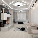 дизайн спальни в стиле хай тек зонирование