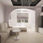 белый дизайн интерьера спальни