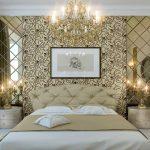 дизайн спальни в классическом стиле с зеркалами