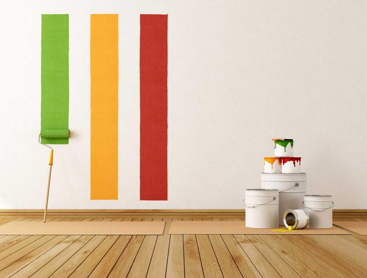 краска для стен комнаты