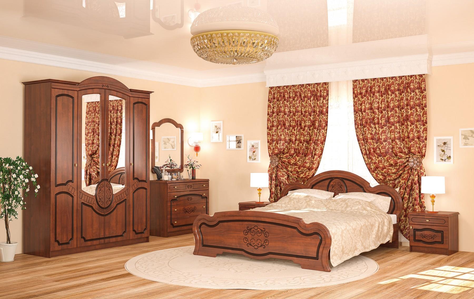 самаая необходимая мебель в спальне в интерьере спальни классик