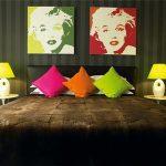 дизайн спальни в стиле поп арт с ярким декором