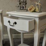 прикроватный стол-тумба с ящиком белый