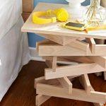 прикроватный стол из дерева самодельный