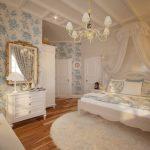 дизайн спальни в стиле французский прованс