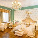 дизайн спальни в стиле рококо