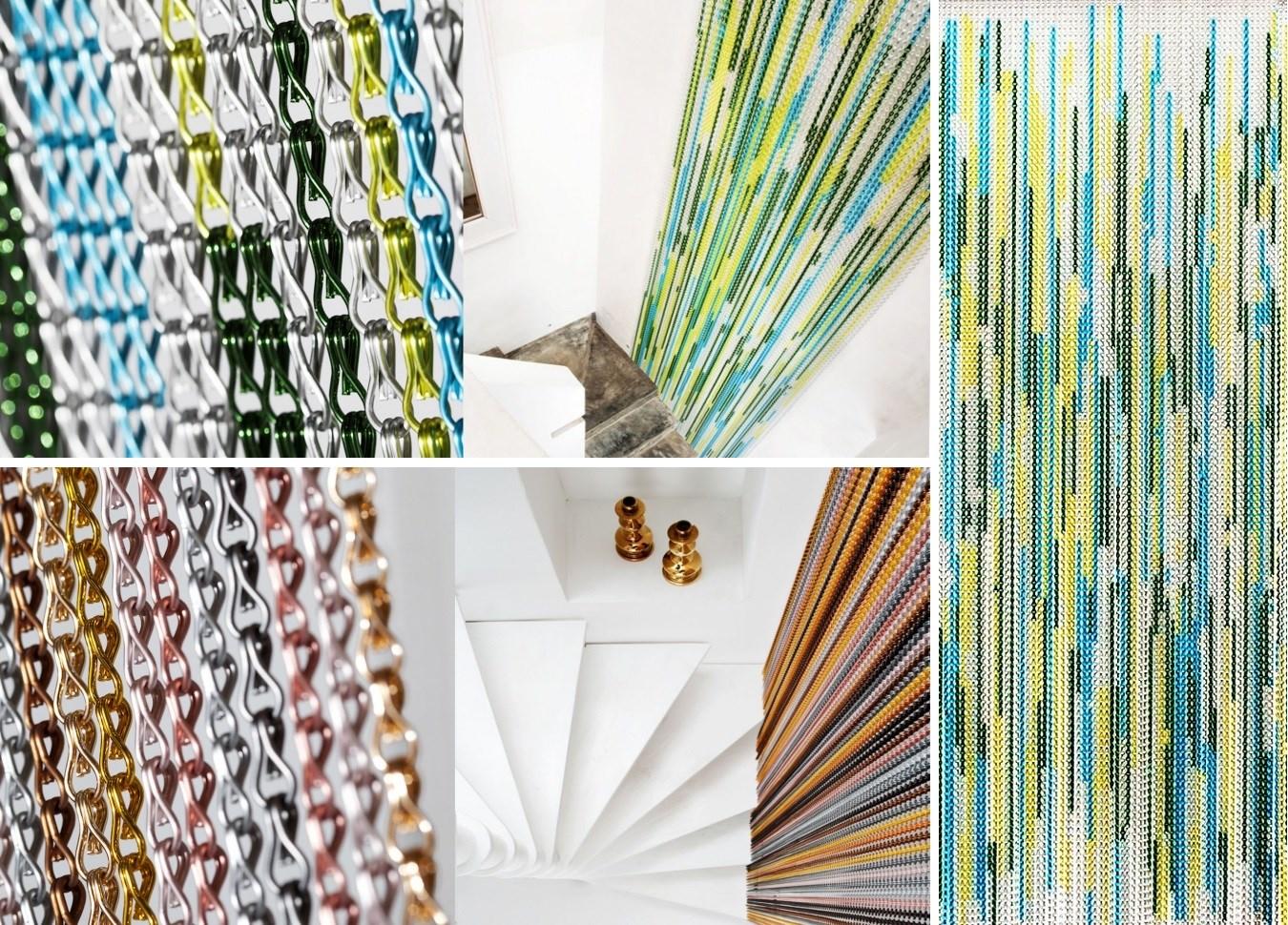 шторы из алюминиевых цепочек