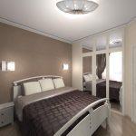дизайн интерьера спальни неправильной формы