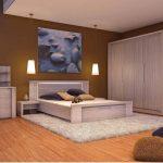дизайн спальни в стиле хай тек с белой мебелью